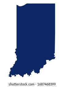 Map of Indiana in blue colour