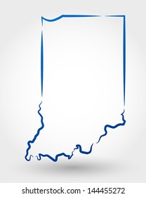 map of indiana. map concept