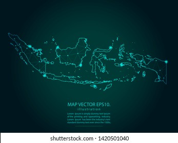 map indonesia space images stock photos vectors shutterstock https www shutterstock com image vector map indonesia abstract mash line point 1420501040