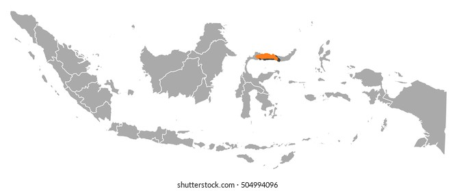 Map - Indonesia, Gorontalo