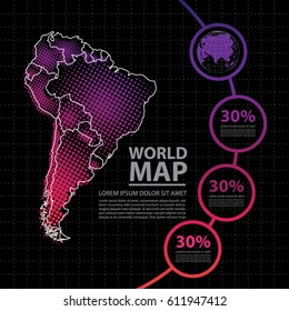map infographic design template