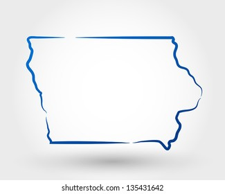 map of iowa. map concept