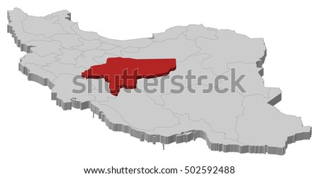 Map Iran Isfahan 3 D Illustration Stock Vector (Royalty Free ...