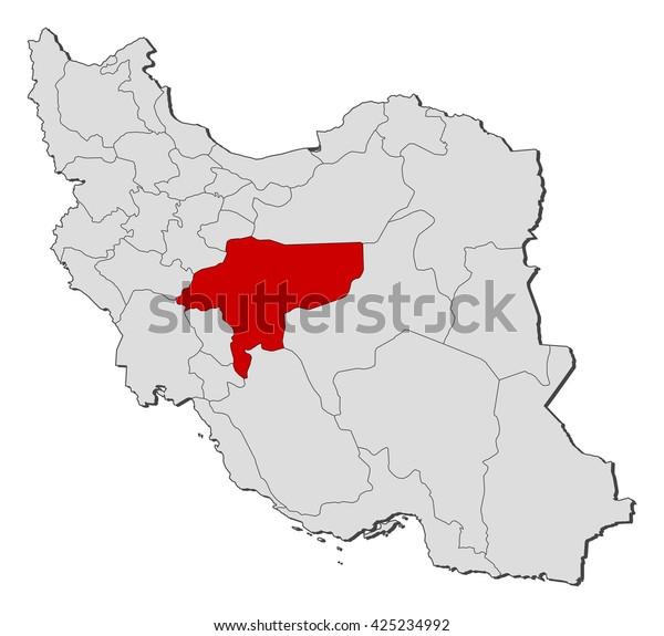 Map Iran Isfahan Stock Vector (Royalty Free) 425234992