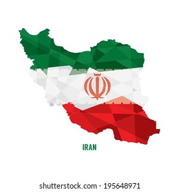 Map of Iran Vector Illustration