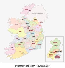 Map Of Northern Ireland Counties.Ireland Map Images Stock Photos Vectors Shutterstock
