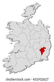 Map - Ireland, Carlow