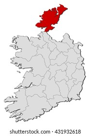 Map - Ireland, Donegal
