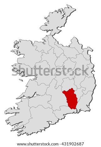 Map Of Ireland Showing Kilkenny.Map Ireland Kilkenny Stock Vector Royalty Free 431902687
