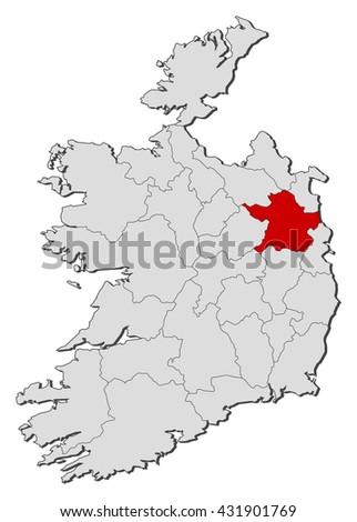 Map Ireland Meath Stock Vector Royalty Free 431901769 Shutterstock