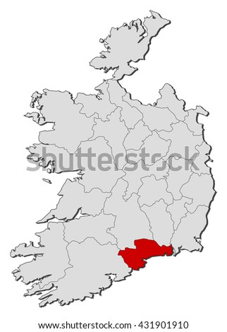 Map Ireland Waterford Stock Vector Royalty Free 431901910