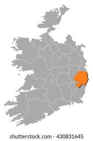 Map - Ireland, Wicklow