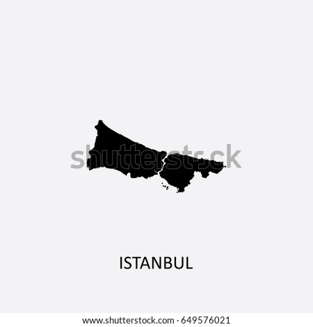 Map Istanbul Turkey Vector Illustration Stock Vector (Royalty Free ...