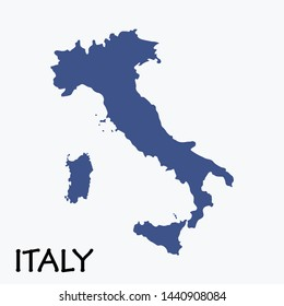 Map Of Italy. Abstract Design Vector İllustration Eps 10.