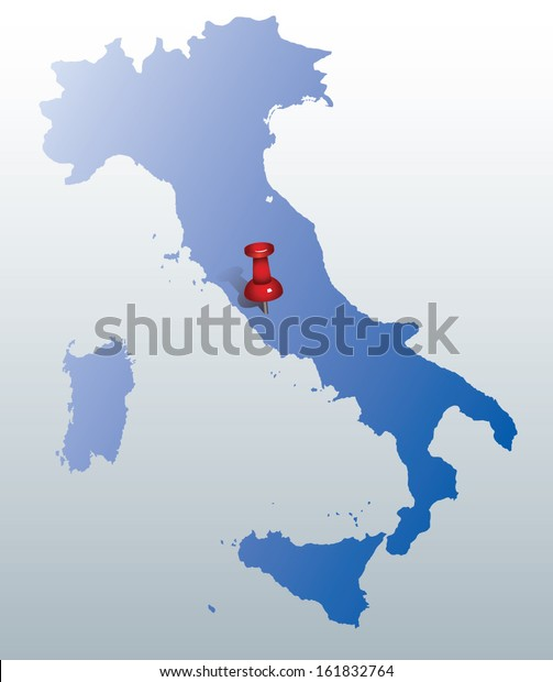 Map Italy Pin Indicating Position Rome Stock Vector (Royalty ...