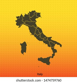 map of  Italy . vector illustration