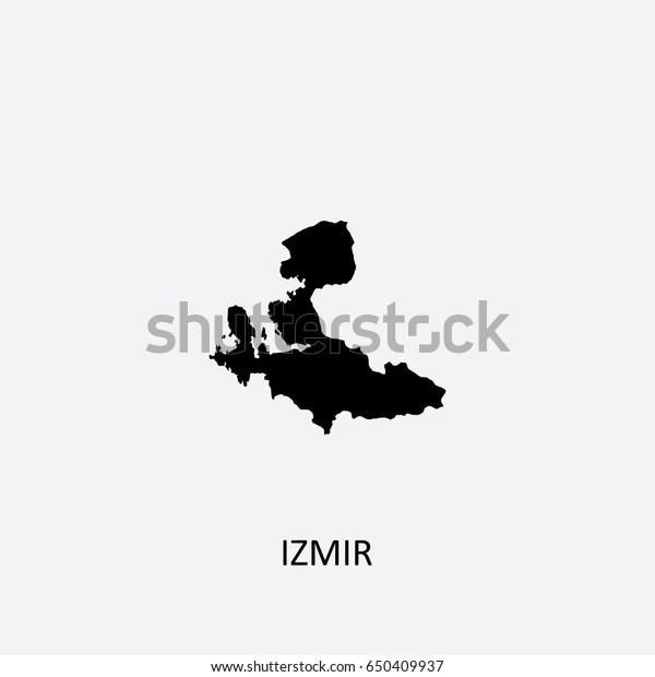 Map Izmir Turkey Vector Illustration Stock Vector Royalty Free 650409937