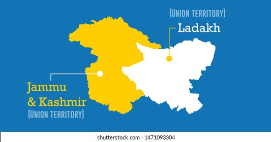 Map of Jammu And Kashmir and Ladakh