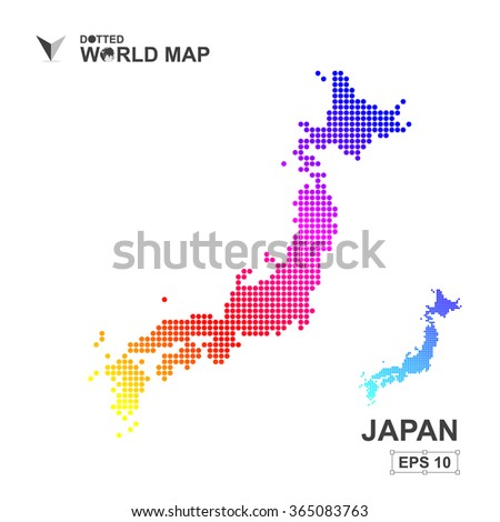 Map Japan Dotted Vector Abstract Computer Graphic Stock Vector ...