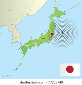 Map japan korea images stock photos vectors shutterstock map of japan with the place of earthquake source gumiabroncs Choice Image