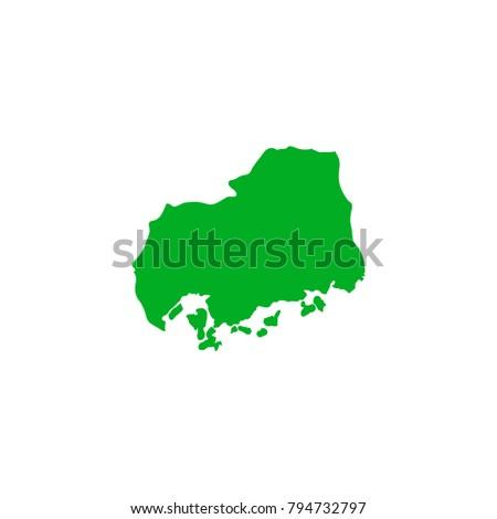 Hiroshima Map Of Japan.Map Japan Terrain Hiroshima Stock Vector Royalty Free 794732797