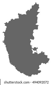 Map - Karnataka (India)