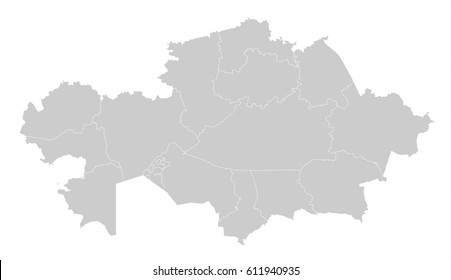 Map -Kazakhstan