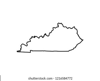 Map Of Kentucky. vector illustration