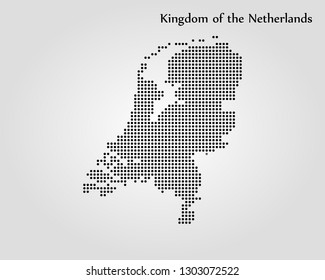 Map of Kingdom of the Netherlands
