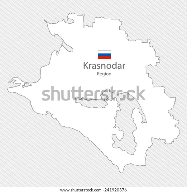 Map Krasnodar Region Russia Stock Vector Royalty Free 241920376