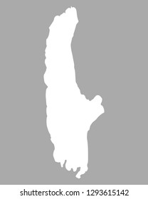 Map of Lake Ammersee