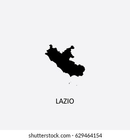 Map of Lazio - Italy Vector Illustration