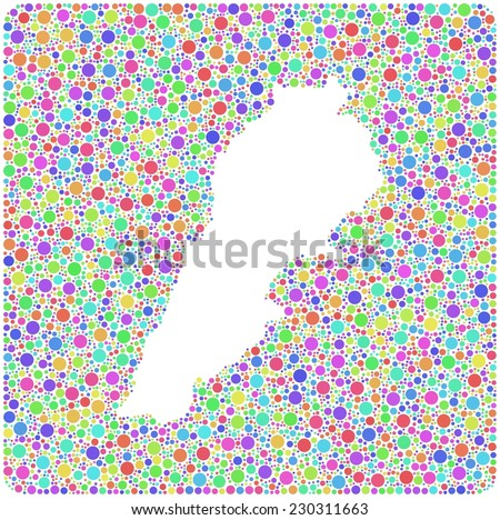Map Lebanon Middle East Mosaic Little Stock Vector Royalty Free