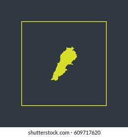 Map of Lebanon Vector Illustration