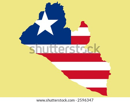Map Liberia Liberian Flag Illustration Stock Vector (Royalty Free ...