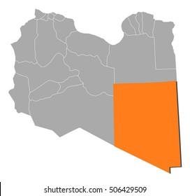 Map - Libya, Kufra