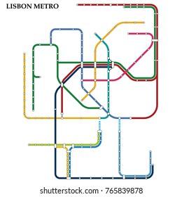 Subway Map Of Lisbon.Lisbon Metro Stock Illustrations Images Vectors Shutterstock