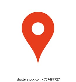 Map location icon, pin gps symbol