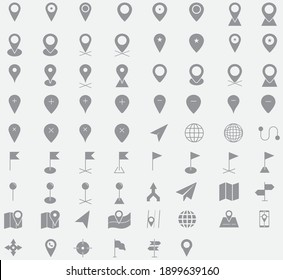 Map and location  icon set eps 10