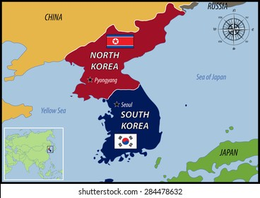 Korea Map Images Stock Photos Vectors Shutterstock