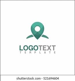 Map location logo template. Pin maps symbol vector.