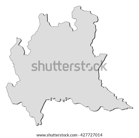 Map Lombardy Italy Stock Vector Royalty Free 427727014 Shutterstock
