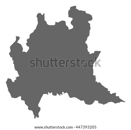 Map Lombardy Italy Stock Vector Royalty Free 447393205 Shutterstock