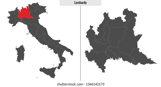 lombardia map Images, Stock Photos & Vectors | Shutterstock