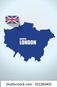 map London design vector illustration