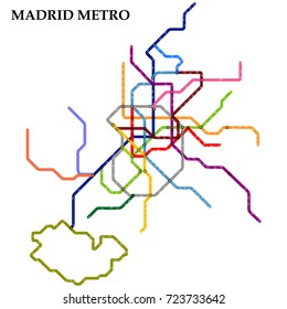 Subway Map For Madrid.Madrid Subway Images Stock Photos Vectors Shutterstock
