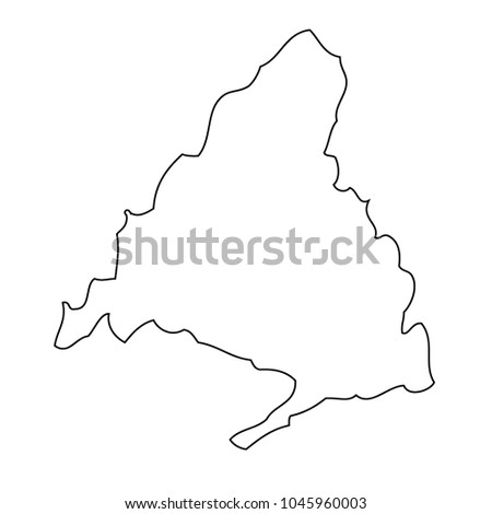 Map Madrid Spain Vector Stock Vector (Royalty Free) 1045960003 ...