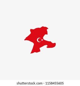Map of Malatya - Turkey Vector Illustration