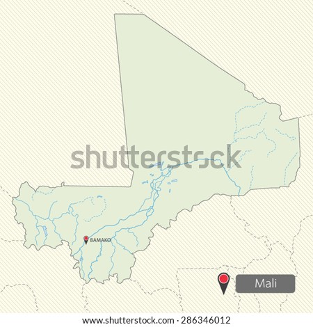 Map Mali Africa Stock Vector (Royalty Free) 286346012 - Shutterstock