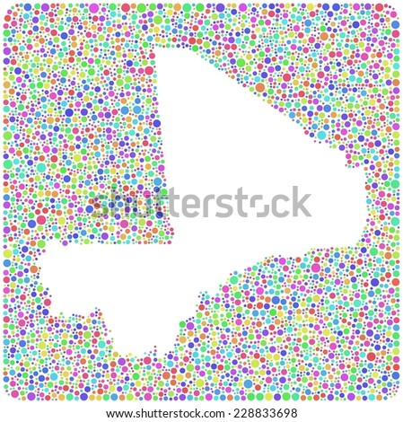 Map Mali Africa Into Square Icon Stock Vector (Royalty Free ...